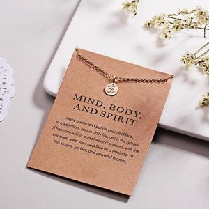 Jewelry - MIND, BODY, AND SPIRIT  ♡ Gift Necklace